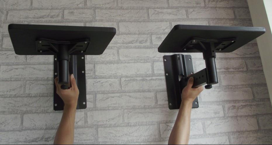 2pcs (1Pair) Full Motion Speaker Bracket Mount Heavy Duty Flexible Tilting  Rotation Speaker Holder With Tray Projector Holder