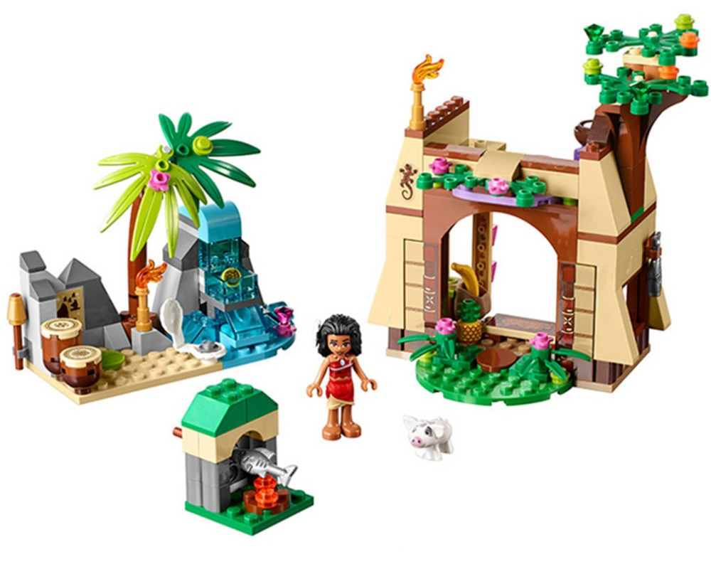 206pcs Girls Friends Princess <font><b>Vaiana</b></font> Moana Ocean Voyage Building Blocks Compatible With Lepining Friends Without Box image