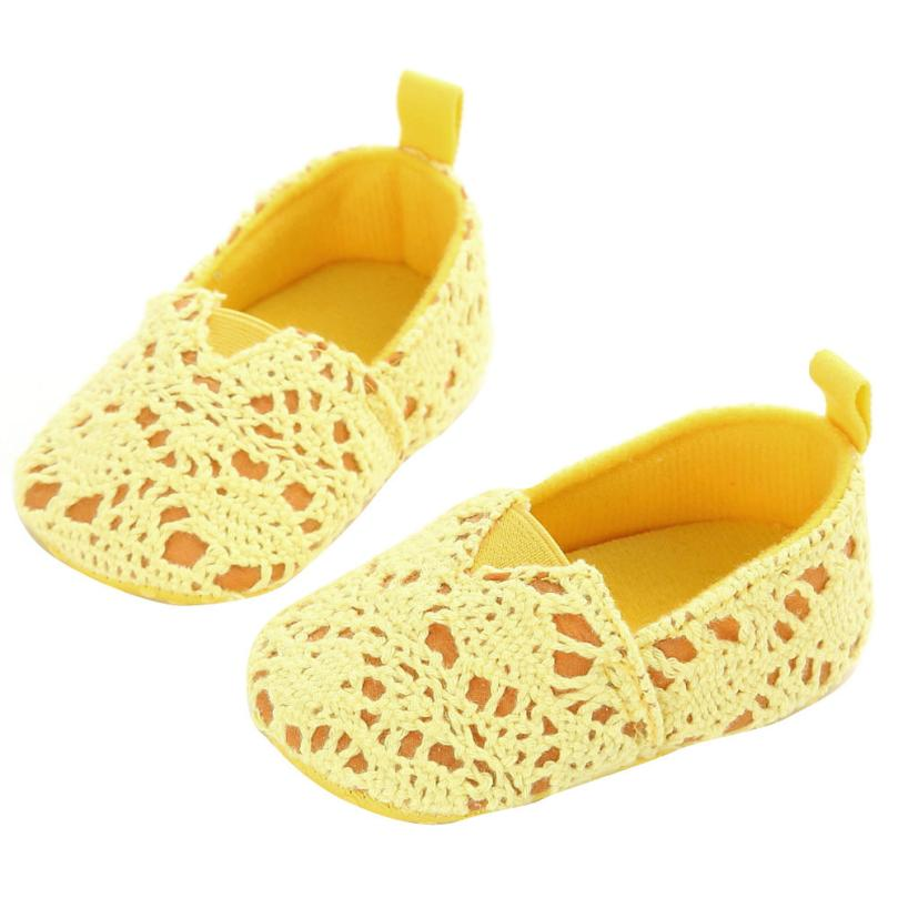 fb9bb095d3909 Baby Infant Kids Girl Soft Sole Crib Toddler Newborn Shoes Shallow Yellow  Baby Shoes First Walker baby girl shoes tenis infantil