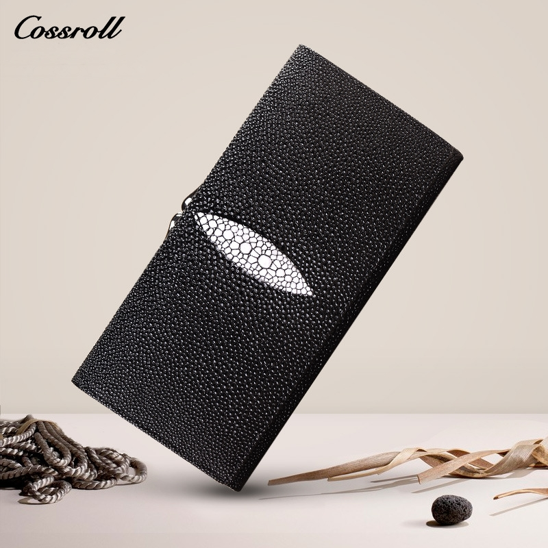 Cossroll Wallet Women Genuine Leather Wallets Female Long Coin Purses Holders Ladies Wallet Fashion Womens Wallets and Purses