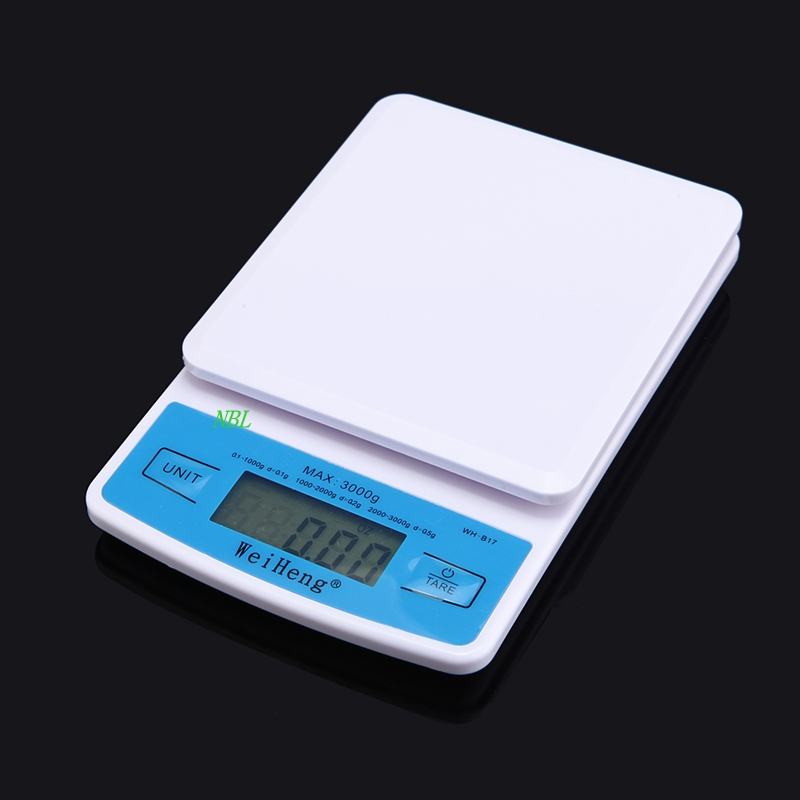 3kg mini pocket electronic kitchen scales 3kg for Professional food scale