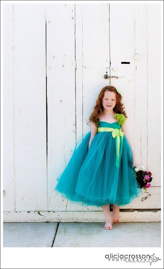 Alta Costura elegante arco niños vestido de belleza flor Niñas ...