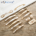 5pcs Beige Door Handles Diamond Drawer Pulls European Kitchen Cabinet Handles and Knobs Elegent Table Furniture Handles