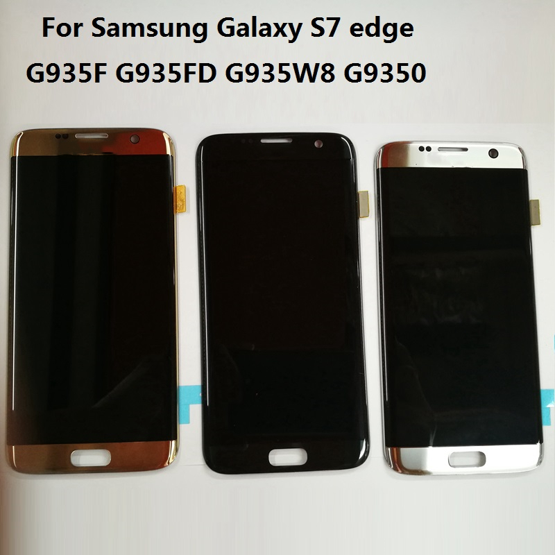 For samsung galaxy s7 edge for Samsung g935 g935f LCD Display with Touch Screen Original Super Amoled 5.5 inch lcd 100% test