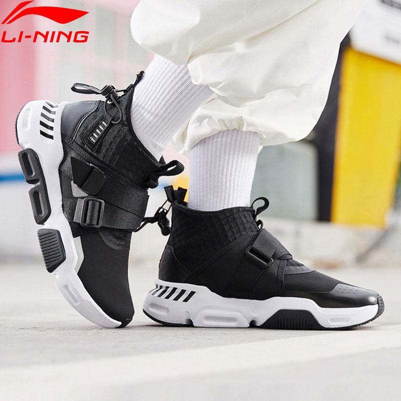 Li Ning Women SURVIVER K Lifestyle Shoes Mid cut Zipper Buckle Leisure Durable Anti slip LiNing