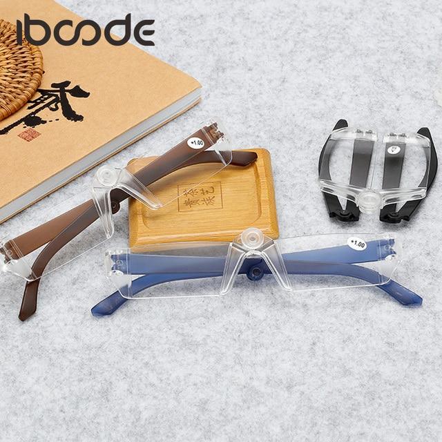 iboode Rimless Foldable Reading Glasses Folding Portable Glasses Light Men Women Presbyopic Fashion gafas for parents Elderly