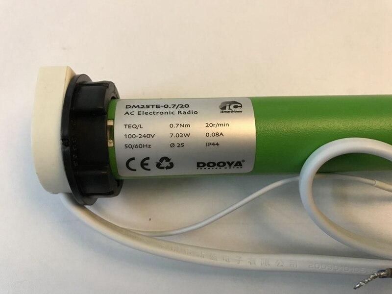 DOOYA DM25TE Tube Moteur À COURANT CONTINU adapté À Rouleaux Stores Zèbre Stores Rideau Dia. 38mm Tube En Aluminium