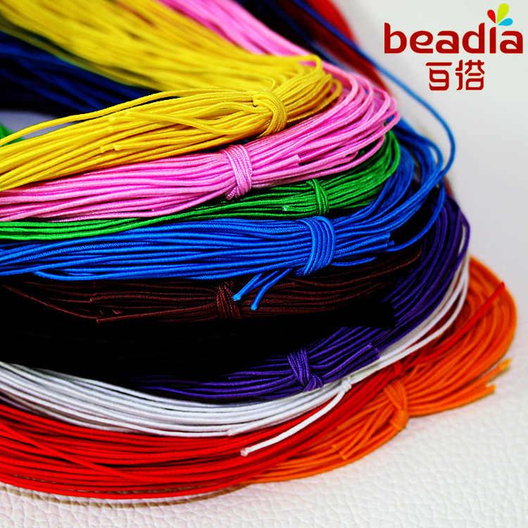 25 metros 10 cores escolha 1mm beading elástico cabo de estiramento grânulos corda corda corda grânulo fio para pulseira diy