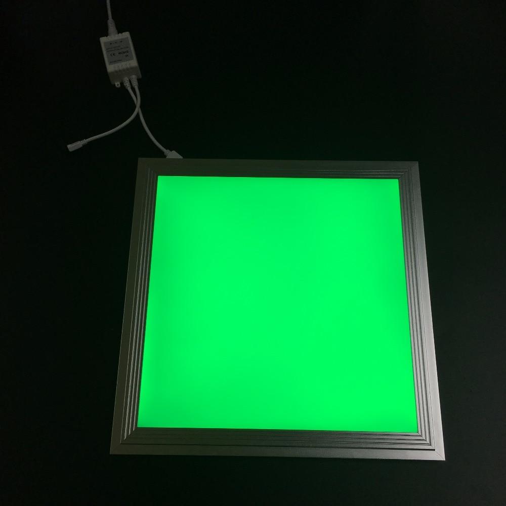 شحن مجاني عالية الجودة RGB اللون 300x300x12 ملليمتر LED مصباح لوح مع لاسلكي عن بعد لجعله اللون للتغيير و عكس الضوء-في أضواء لوحة LED من مصابيح وإضاءات على title=