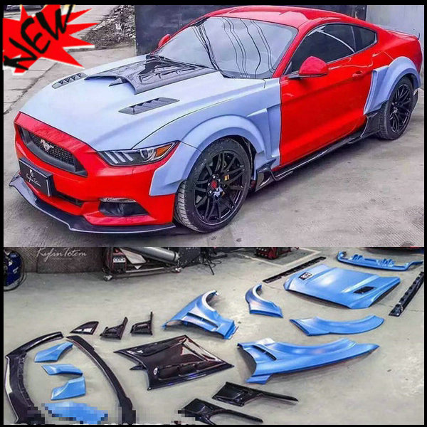 US $6980 0  KylinTotem bodykit auto car body kits bodykits for Ford Mustang  2 3 T to KT (front lip,rear diffuser,spoiler,wheel eyebrow,hoood-in