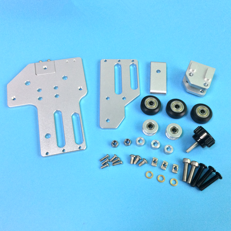 1set Tronxy 3D printer upgrade aluminum X axis belt tensioner kit 2040 v slot for Tronxy