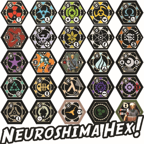 HomeMade Strategy Game ] Neuroshima Hex! ( 24 Kinds of Army ...