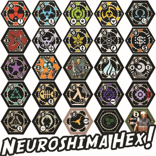 HomeMade Strategy Game ] Neuroshima Hex! ( 24 Kinds of Army & A ...