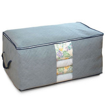 High Quality Large Pragmatic  Foldable Bamboo Charcoal Non Woven Cloth Fibre Home Storage Bag Box Container For Organizer
