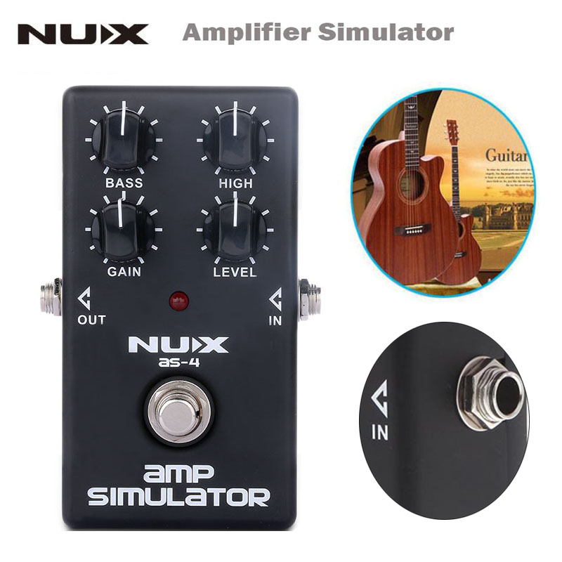 NUX AS-4 Amplifier Simulator Pedal Electric Guitar Effect Pedal True Bypass Black High Quality Guitar Parts and Accessories fashion brand women jeans high waisted denim jeans ripped trousers washed vintage big hole ankle length skinny vaqueros mujer