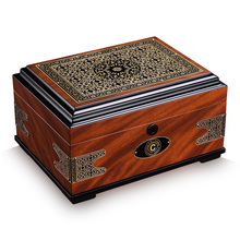 Luxury christmas gift cedar wood Cigar box large capacity double layer vintage moisturizing cigar cabinet humidor HB-1052
