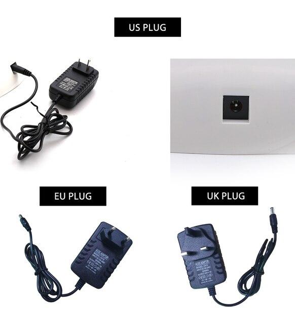 Clou Beaute 36W LED/UV 30s 60s Timer Nail Lamp Infrared Sensing US/EU/UK Plug Gel Nail Polish Dryer Manicure Lamp UV LED Dryer 6