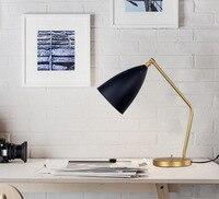 Книга света Кузнечик настольная лампа Nordic Медь настольная лампа исследование лампа классический архитектор настольная свет отель ночные о