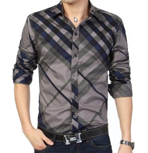 2016 nuevos hombres de manga larga camisa delgada del ajuste overhemd sociales casuales para hombre del tamaño grande 3XL 4XL 5XL 6XL raya con collar caliente de la venta
