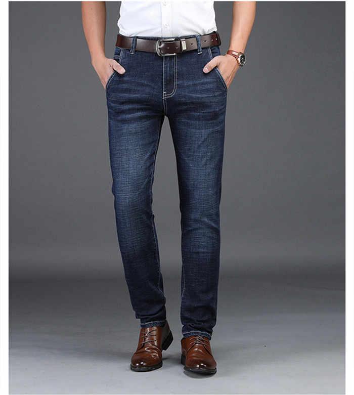 Pantalones Vaqueros De Mezclilla Azul Negro Stragiht Silm Fit Para Hombre Talla 30 32 34 36 38 40 42 Jean Para Hombre Nd8933 Pantalones Vaqueros Aliexpress