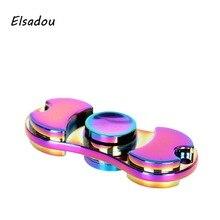 Elsadou Metal Hand Spinner Best Fidget Toy Finger Spinner Anti Stress Toys