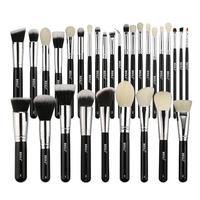 BEILI Complete Professional 30 Pieces Foundation Powder Concealer Eyes Shadow Makeup Brush Set