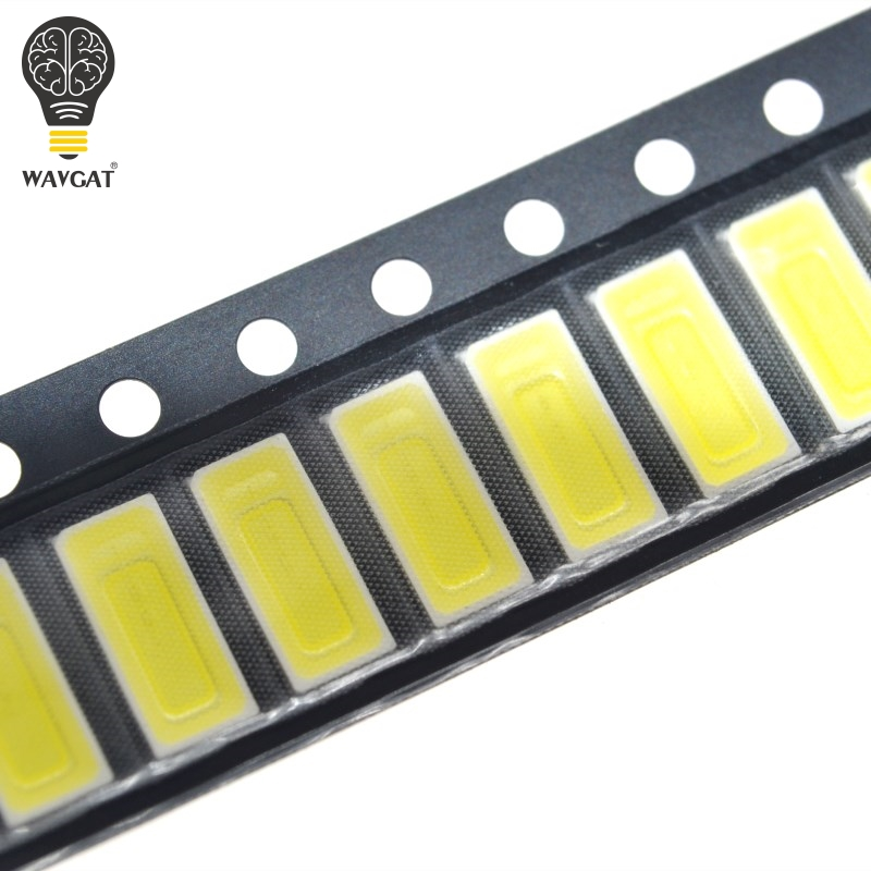 100PCS For <font><b>LG</b></font> Innotek <font><b>LED</b></font> <font><b>LED</b></font> Backlight 1W 7030 6V Cool white TV Application <font><b>smd</b></font> 7030 <font><b>led</b></font> cold white 100-110lm 7.0*3.0*0.8mm image