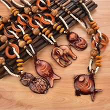 Wooden Necklaces and Pendants 19 Styles