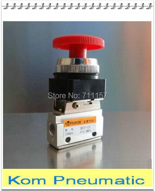 Pneumatic Mechanical Valve 2 Position 3 Way G1//8 Pneumatic Mechanical Valve Push Button Switch MOV-03