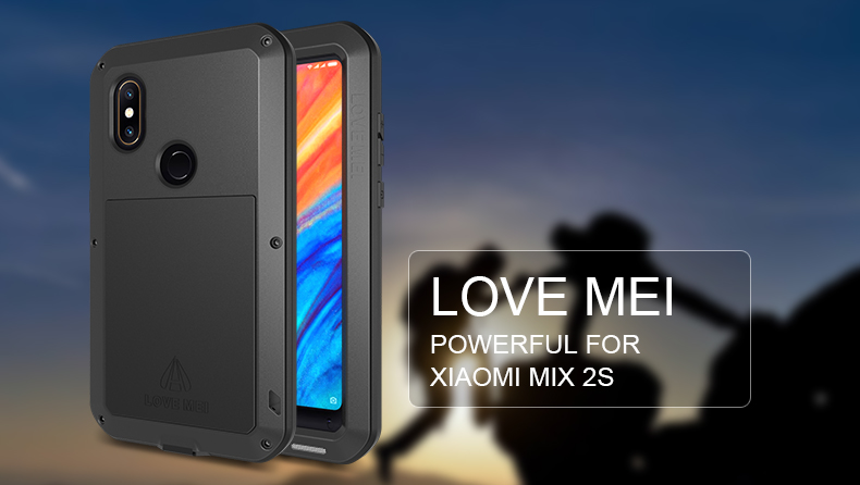 Metal Phone Case For Xiaomi MiX 2S Case Shockproof Armor Cover Full Protective Case Shell POWERFUL FOR XIAOMI MIX 2S