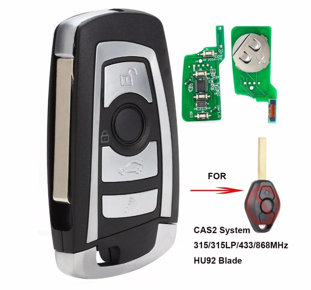 KEYECU CAS2 Modified Flip Remote Key 4 Button 315MHz/433MHz/868MHz/315LP PCF7946 for BMW E60 5 Series E63 6 Series FCC: KR55WK47|Car Key| |  - title=