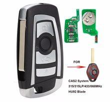 KEYECU CAS2 zmodyfikowana klapka klucz zdalny 4 przycisk 315MHz/433MHz/868MHz/315LP PCF7946 dla BMW E60 serii 5 E63 serii 6 FCC: KR55WK47