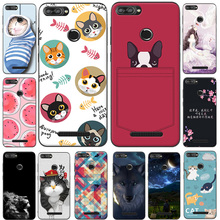 "For Lenovo K320t Case K320 T Case Soft TPU Silicone Cover Cute Cat Dog Cartoon Coque For Lenovo K320T 5.7"" Phone Back Cover Capa"