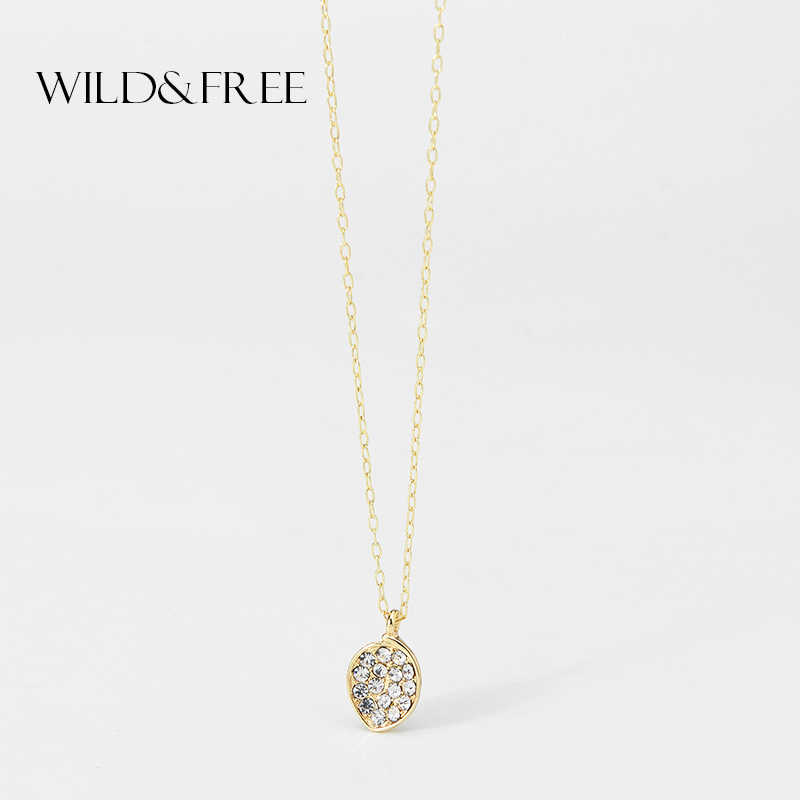 Wild&Free Classic Rhinestone Necklace&Pendant For Women Girl High Quality Long Chain Heart Crystal Necklaces Chain Jewelry Gift
