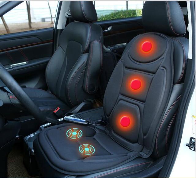 السيارات الرئيسية مكتب الألياف مقعد ساخنة يغطي ث 5 يهتز تدليك كامل الجسم مقعد دافئ التدفئة دعم الداخلية اكسسوارات السيارات