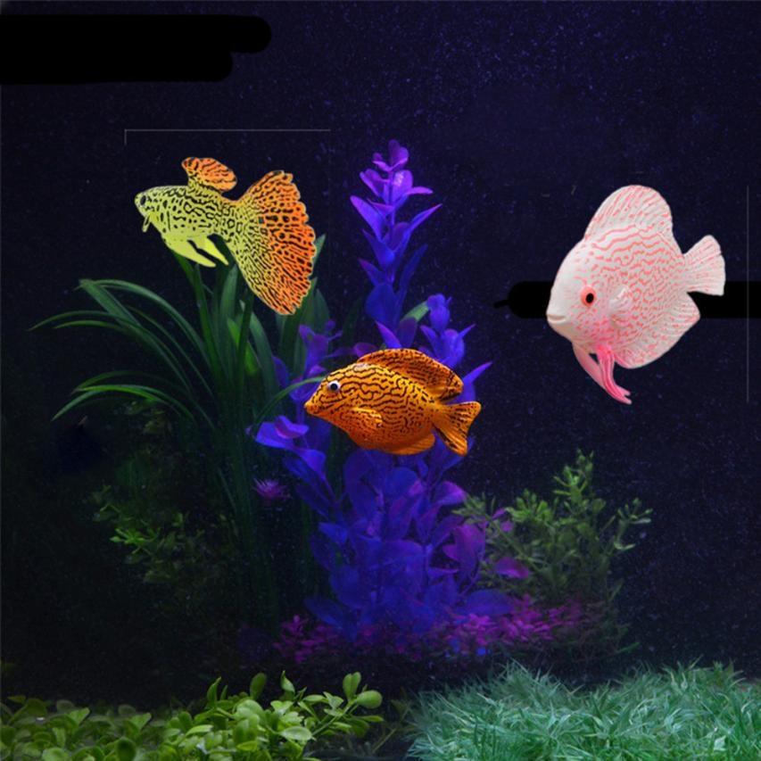 Clownfish Aquarium Plastic Swimming Faux Fake Gold Fish