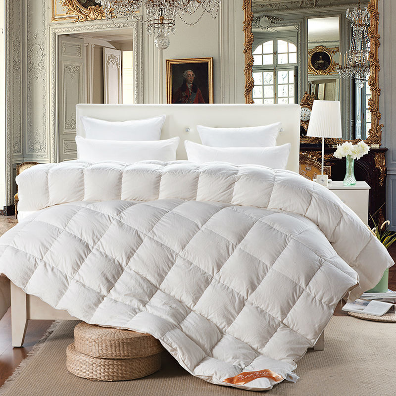 luxury quilting winter duvet comforter duckgoose down quilt blankets multicolor washing cotton twin - Down Blankets