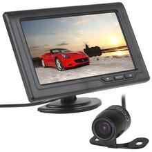 4.3 Pollici 480×272 TFT LCD 2-Canale di Ingresso Video Car Rear View Monitor con E306 CMOS A Colori CCD Auto TELECAMERA di Retromarcia della Macchina Fotografica di Backup