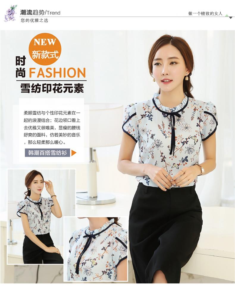 HTB1BeyYPVXXXXXXXpXXq6xXFXXXU - Summer Floral Print Chiffon Blouse Ruffled Collar Bow Neck Shirt