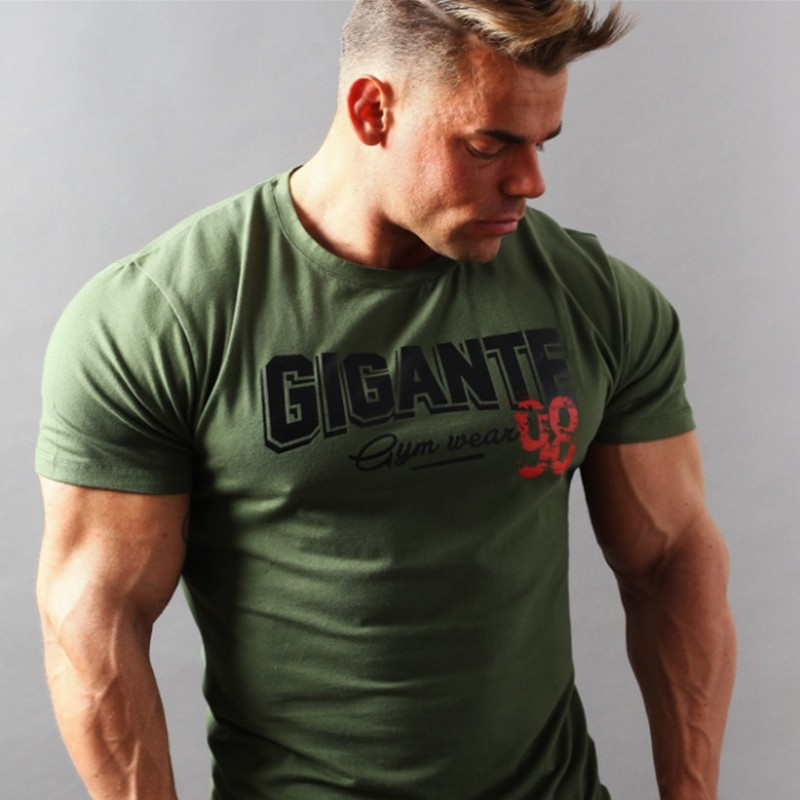 Gigant 2018 New Brand Clothing Gyms Tight T-shirt Mens Fitness T-shirt Homme Gyms T Shirt Men Fitness Summer Top