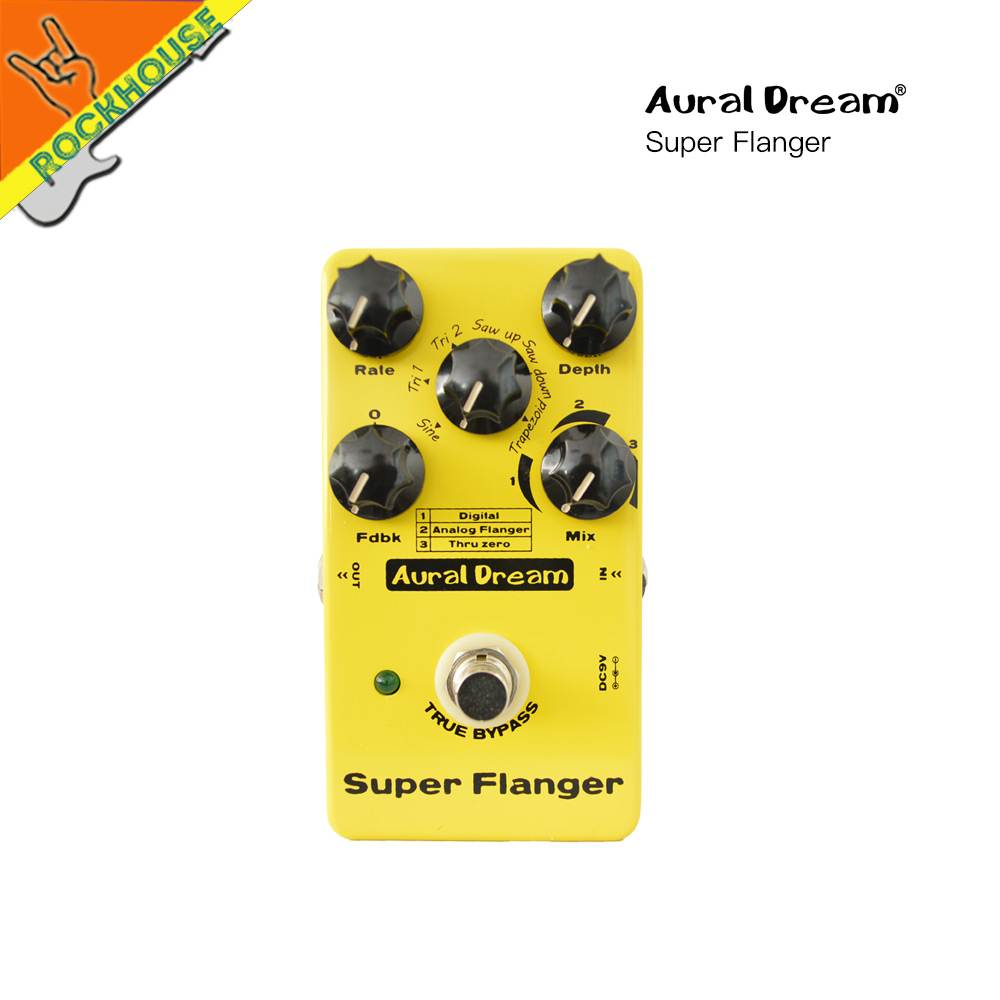 Auraldream Flanger Guitar Effect Pedal Digital Flanger Guitar pedal 6 Flanger models Analog Warm Sound True Bypass Free Shipping aroma atr 3 twister analog mini single effect flanger electric guitar effect pedal true bypass