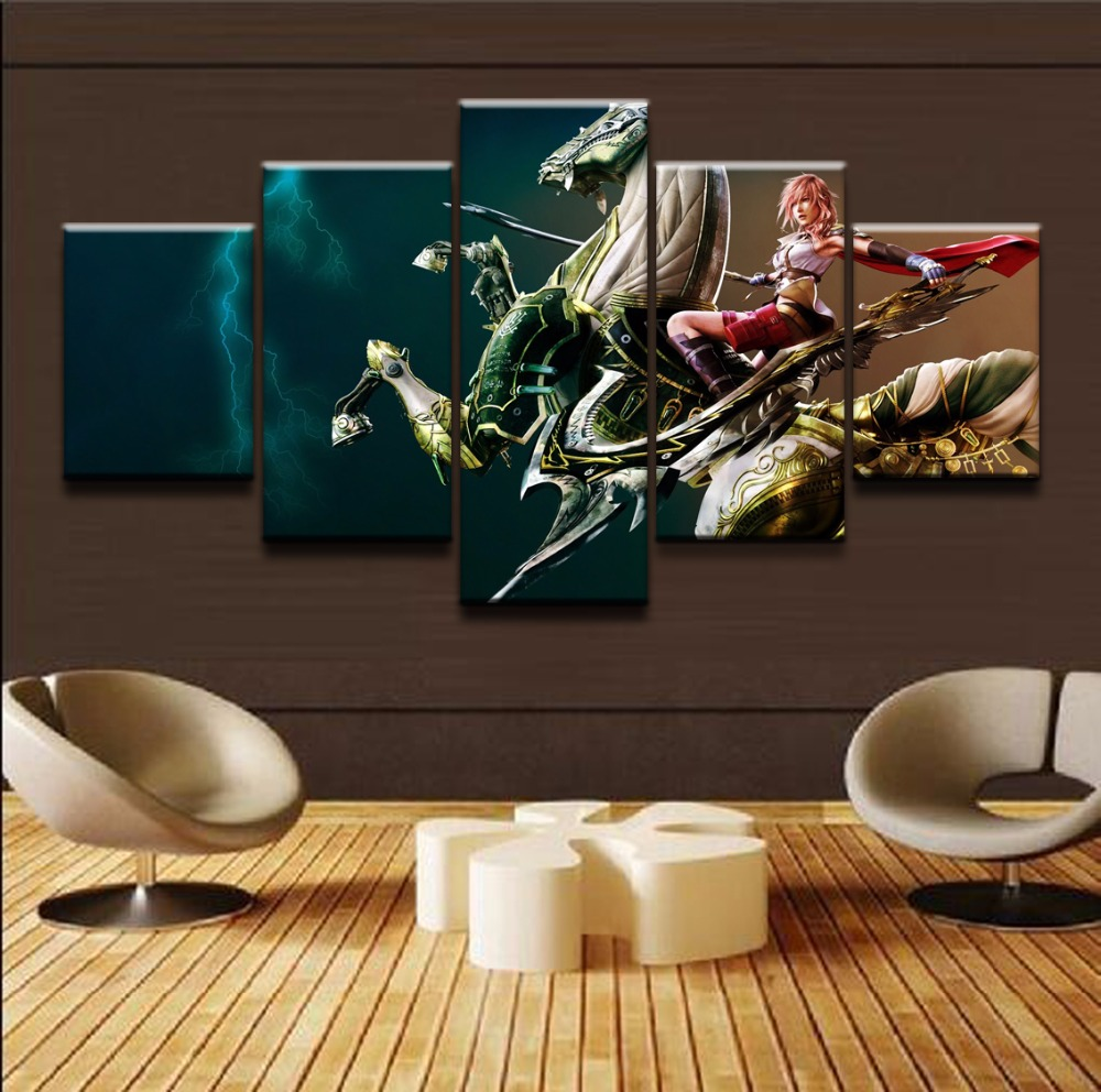 Online Shop Final Fantasy Painting Toprated Canvas Printed Game Rhmaliexpress: Final Fantasy Home Decor At Home Improvement Advice