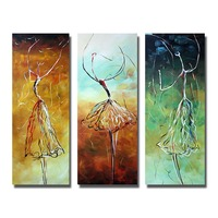 Unique gift handpainted Wall art Picture Modern Abstract dancer Oil Painting On Canvas handmade Home Decoration for living room
