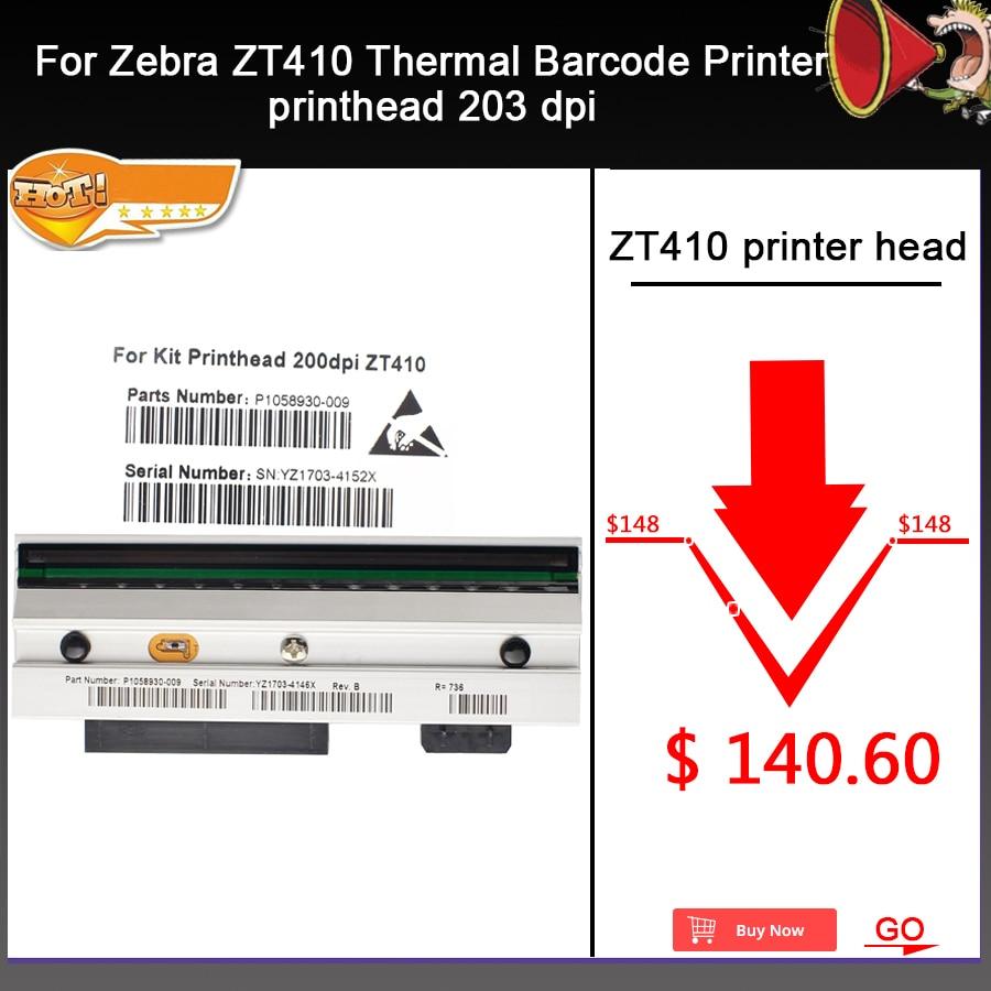 Новая ZT410 печатающая головка для Zebra ZT410 термальный принтер штрих кода 203 точек/дюйм P1058930 009 совместимый