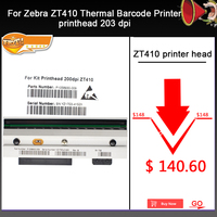New ZT410 Printhead For Zebra ZT410 Thermal Barcode Printer 203dpi P1058930 009 Compatible