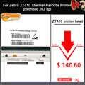 Nuevo cabezal de impresión ZT410 para impresora de código de barras térmica Zebra ZT410 Compatible con P1058930-009 de 203dpi