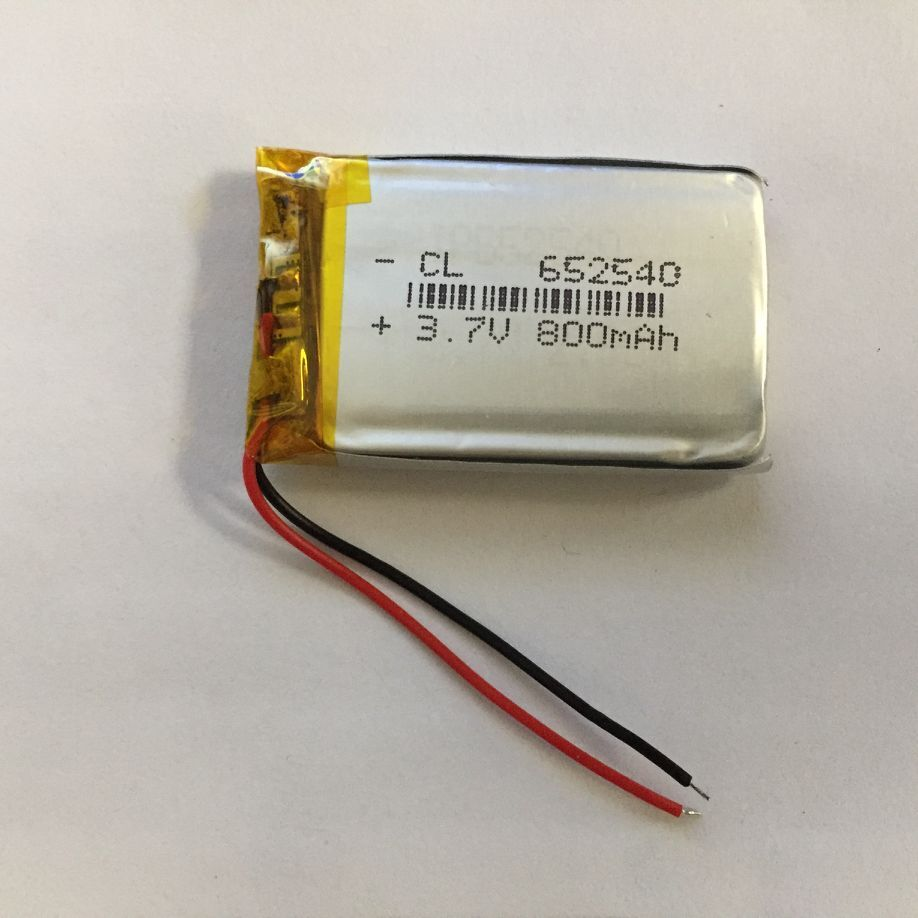 3.7V polymer lithium <font><b>battery</b></font> <font><b>602540</b></font> driving recorder general <font><b>battery</b></font> 800mAh 652540 recording pen Rechargeable Li-ion Cell image