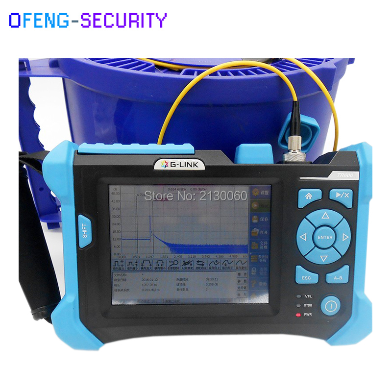 TR600 SM 32db/30db Orientek Touch Screen 1310/1550nm OTDR With 3KM VFL Function Visual Fault Location Function