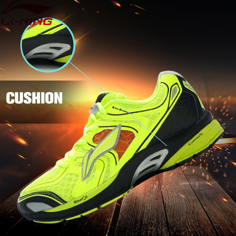 Li-Ning Outdoor Running Shoes Men Lace Up Breathable 3M Reflective Stability Cushioning Sneakers Sport Shoes ARGJ001 XYP258 peak sport speed eagle v men basketball shoes cushion 3 revolve tech sneakers breathable damping wear athletic boots eur 40 50