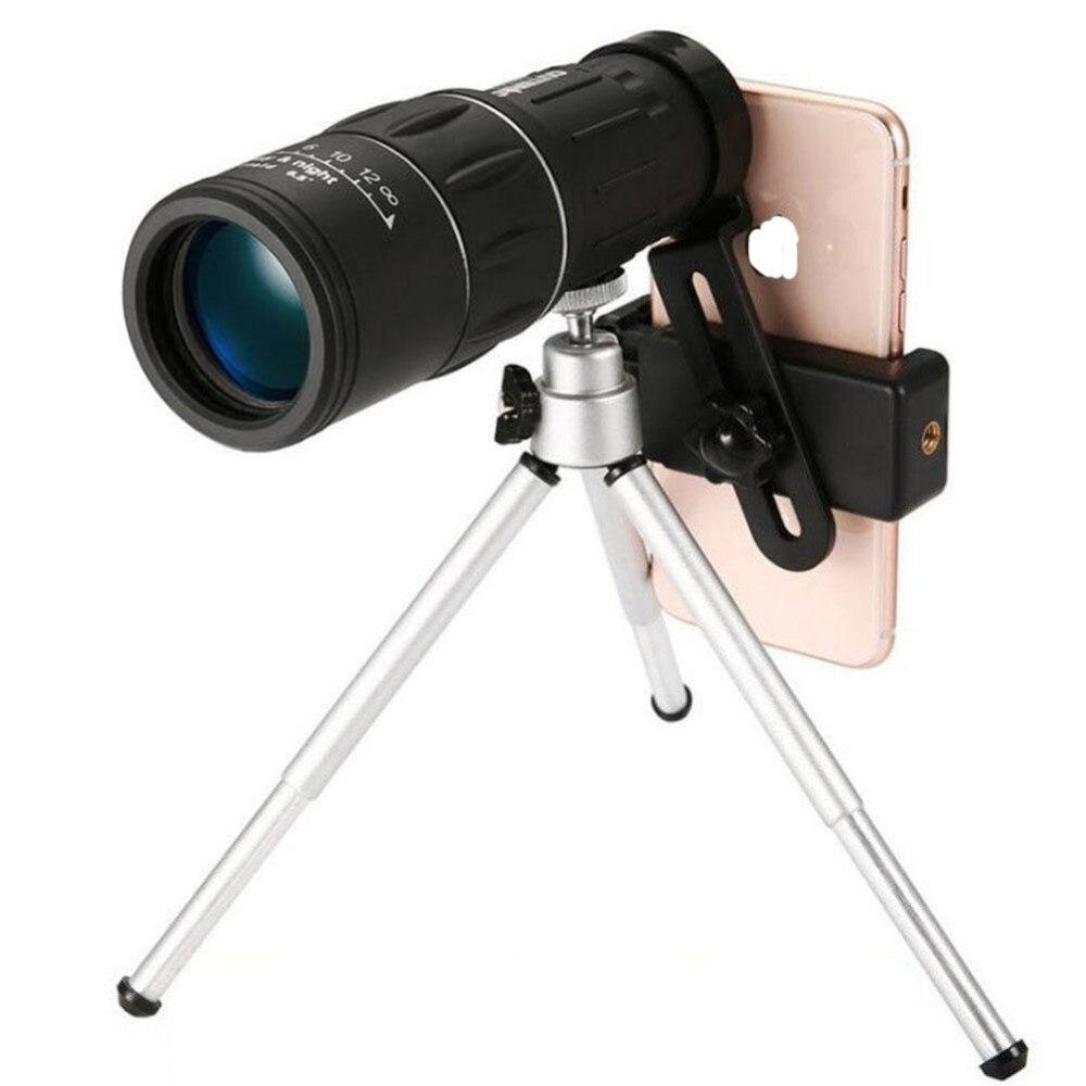 Grupo Vertical 16x52 x de alta potencia HD Monocular lente del telescopio doble enfoque prisma alcance con la noche visión para todos actividades al aire libre